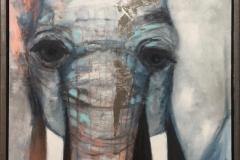 Connie Borgen Elefant II Akrylmaleri (80x60 cm) kr 6000 mr