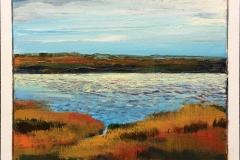 Jette Dümke Fjord Akrylmaleri (30x30 cm) kr 2800 mr