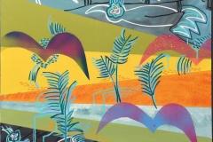 Johnny Wilslew Fugler I Akrylmaleri (70x70 cm) kr 7600 ur