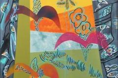 Johnny Wilslew Fugler II Akrylmaleri (70x70 cm) kr 7600 ur