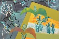 Johnny Wilslew Fugler III Akrylmaleri (70x70 cm) kr 6500 ur