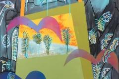 Johnny Wilslew Fugler IV Akrylmaleri (70x70 cm) kr 6500 ur