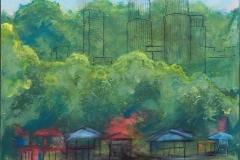 Jytte Jespersen Malaysia Akrylmaleri (60x50 cm) kr 3800 ur