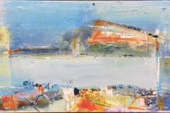 Live Ejdesgaard Kalsøy Akrylmaleri (20x40 cm) kr 2000 ur