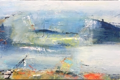 Live Ejdesgaard Nølsøy Akrylmaleri (20x40 cm) kr 2000 ur