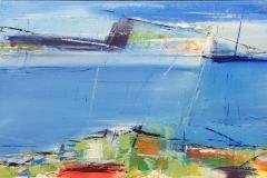Live Ejdesgaard Sommer Akrylmaleri (40x100 cm) kr 3500 ur