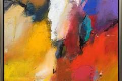 Niels Kongsbak Lavinen Akrylmaleri (70x60 cm) kr 7000 mr
