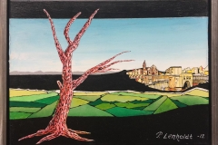 Per Lenholdt The Way To Cartoon City Akrylmaleri (30x40 cm) kr 5500 mr