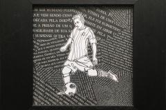 Søren Morns Leo Messi Collage (19x19 cm) kr 500 mr