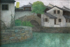 Landsby-bilde I Temperamaleri (40x50 cm) kr 12000 mr