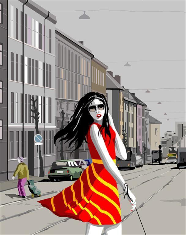 Single girls looking for..50 x 41 cm Kr 2520,-