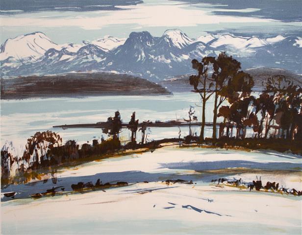 Romsdal Litografi 37x47,5cm 1600,-kr u.r.