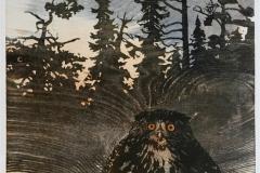 Trollskog Tresnitt 39x34 cm 1600 ur