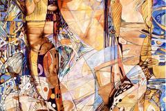 Stråler Oljemaleri (70x50 cm) kr 15000 ur
