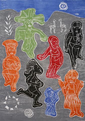 Fredagsdansen Tresnitt 59x41 cm 2000,-kr u.r.