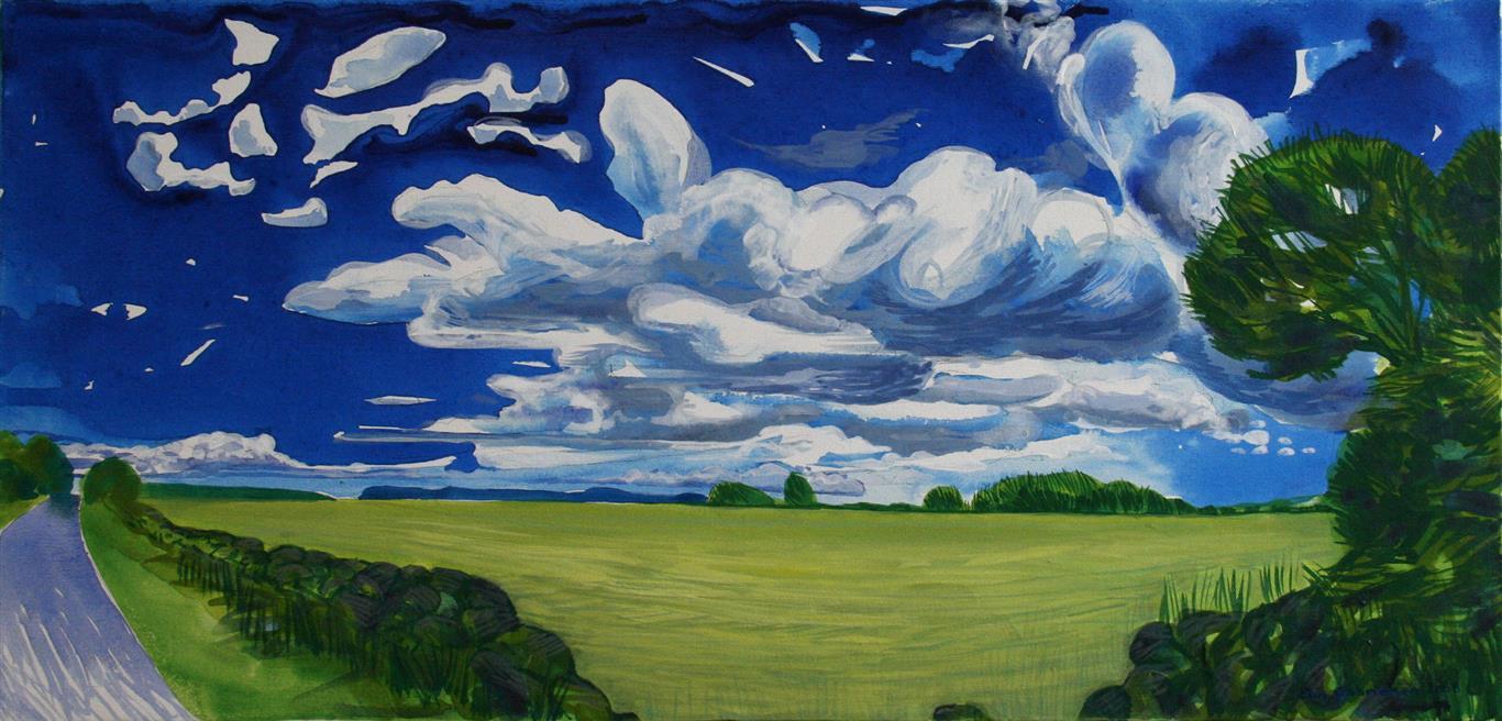Landsneset I Akrylmaleri 40x84 cm 7000 ur