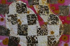 Roedgull Akryl, bladgull 30x30 cm 2500 ur