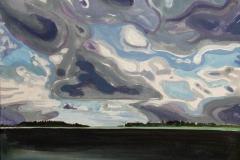 Skagen II Akrylmaleri 30x30 cm 2500 ur