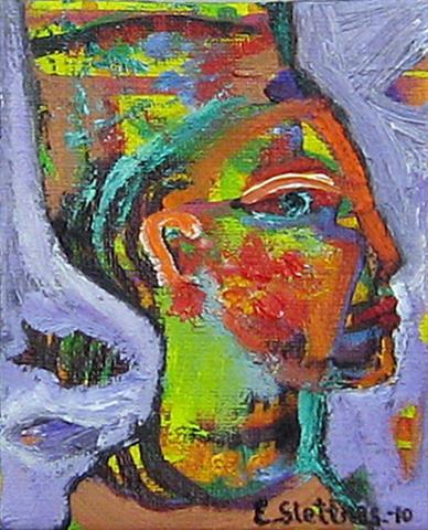 Portrett XVII Oljemaleri (13x11 cm) kr 800 ur