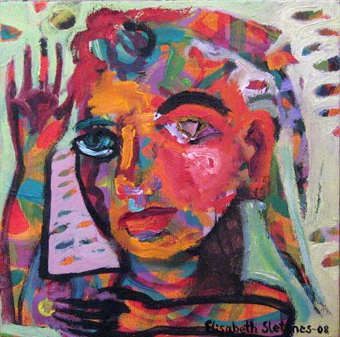 Portrett-ed Oljemaleri (20x20 cm) kr 1500 ur