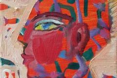 Portrett XII Oljemaleri (15x15 cm) kr 900 ur