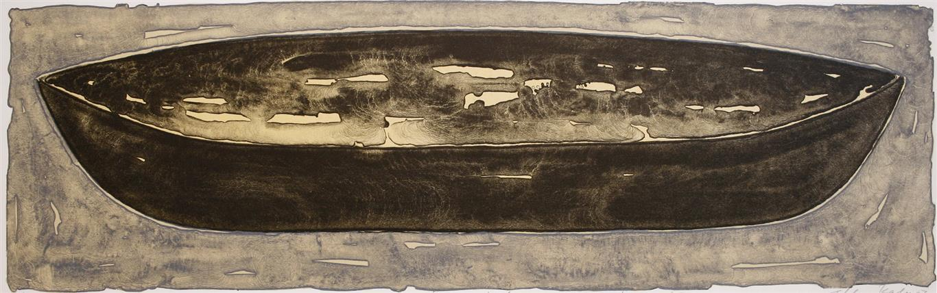 Lang fart (gul) Litografi 25x80 cm 2500 ur