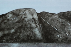 Midtfjordsholmen Litografi 25x80 cm 2500 ur