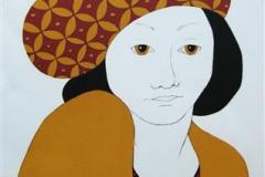 Damen II Litografi 32x22 cm 1400 ur