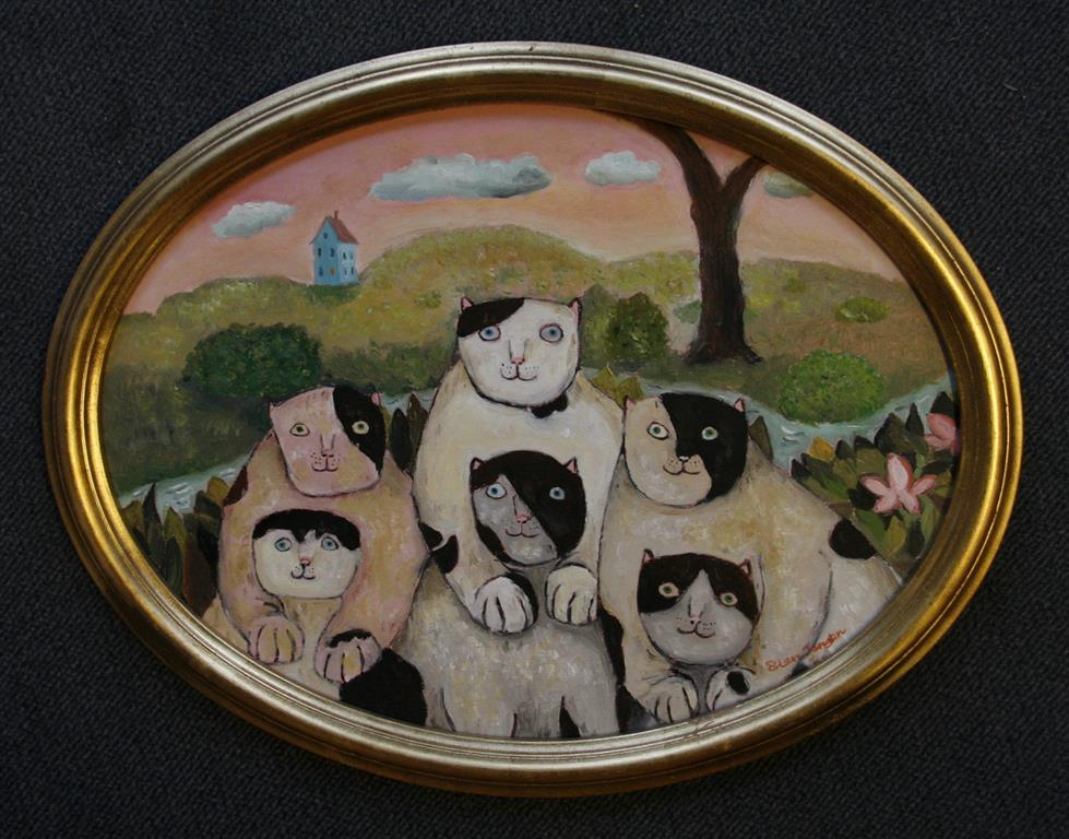 Familien Oljemaleri (30x40 cm) kr 3000 ur