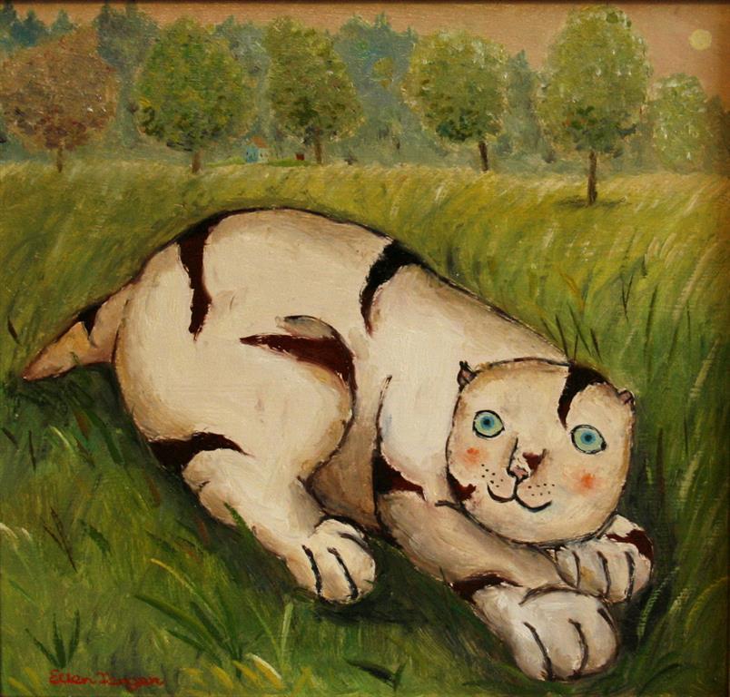 Marius Oljemaleri (27x28,5 cm) kr 3000 ur