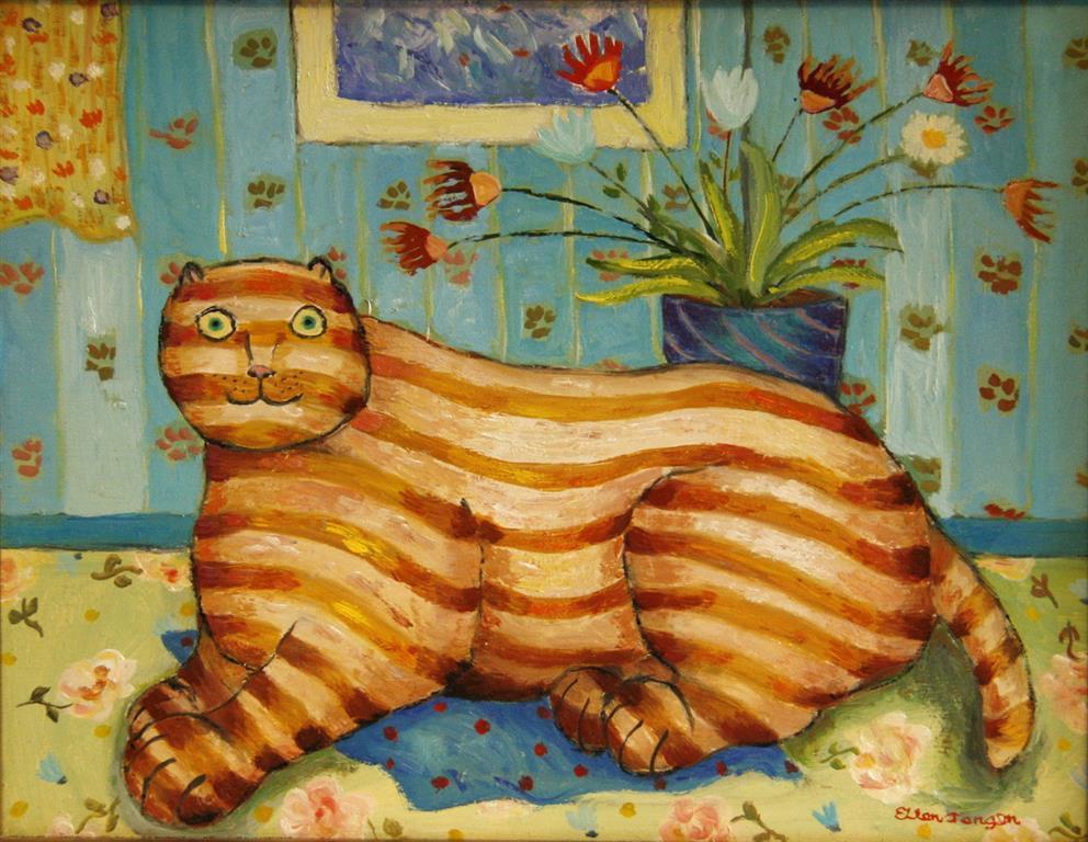 Mona Lisa Oljemaleri (26x33 cm) kr 2500 ur
