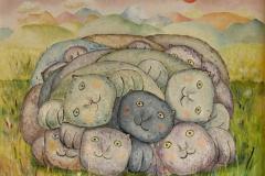 Rulle Oljemaleri (53x59 cm) kr 4500 ur