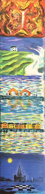 Allegori Trondheim Litografi (61x14 cm) kr 3000 ur
