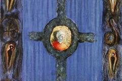 Korset og kransen Litografi 46x35 cm 3500 ur