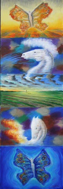 Allegori 5 Oljemaleri 120x40 cm 43000 mr