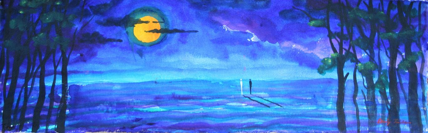 Akvarell I Maneskinn