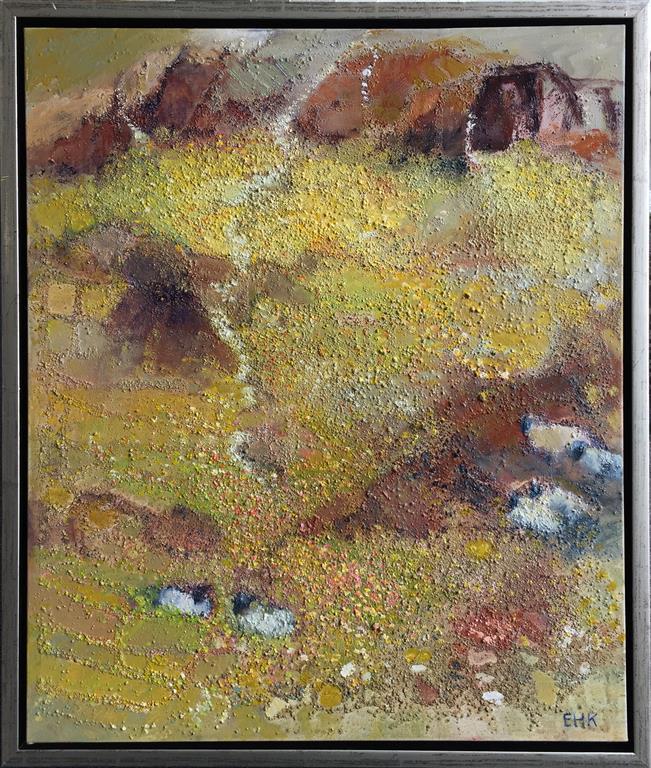 Får i fjeld Oljemaleri (60x50 cm) kr 7000 mr