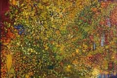 Og alle de små feer Oljemaleri med bladgull (80x80 cm) kr 16000 ur