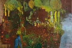 Skov ensomhed Oljemaleri (60x80 cm) kr 9500 ur
