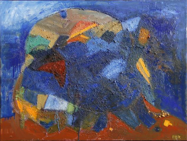 Urtidsfugle Oljemaleri 60x80cm 7500,-kr m.r