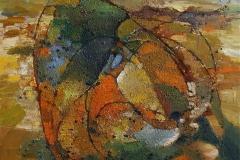 Regnvaade marker Oljemaleri 60x60cm 5500,-kr m.r