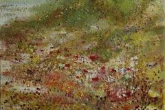 Sommersol i fjeld Oljemaleri 60x60cm 5500,-kr m.r