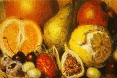 Frukt Litografi 13x21 cm 1000 ur