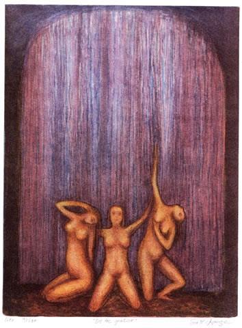 De tre gratier Litografi 40x30 cm 3000 ur