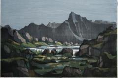 Hoeyfjell Tresnitt 46x68,5 cm 2100 ur