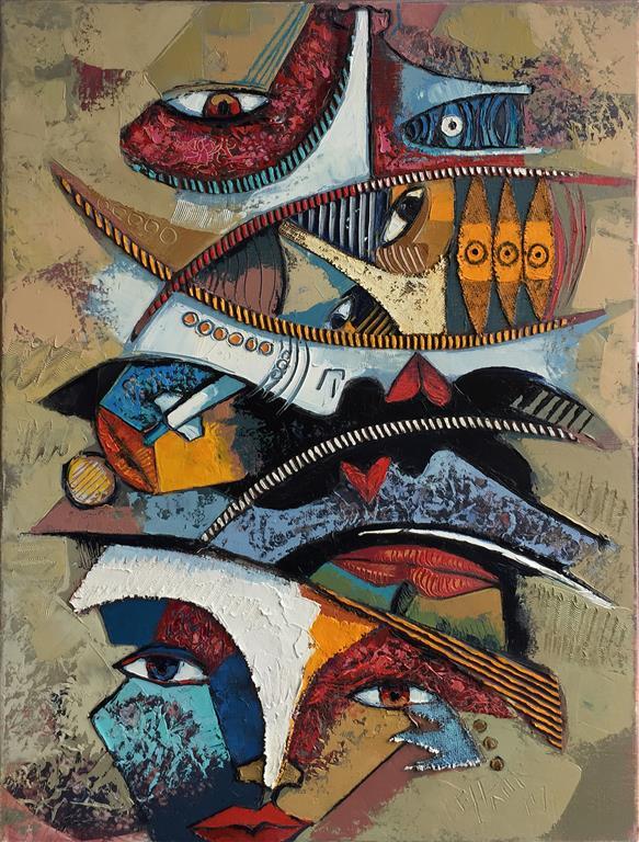 Barbacoa II Maleri (50x60 cm) kr 13000 ur