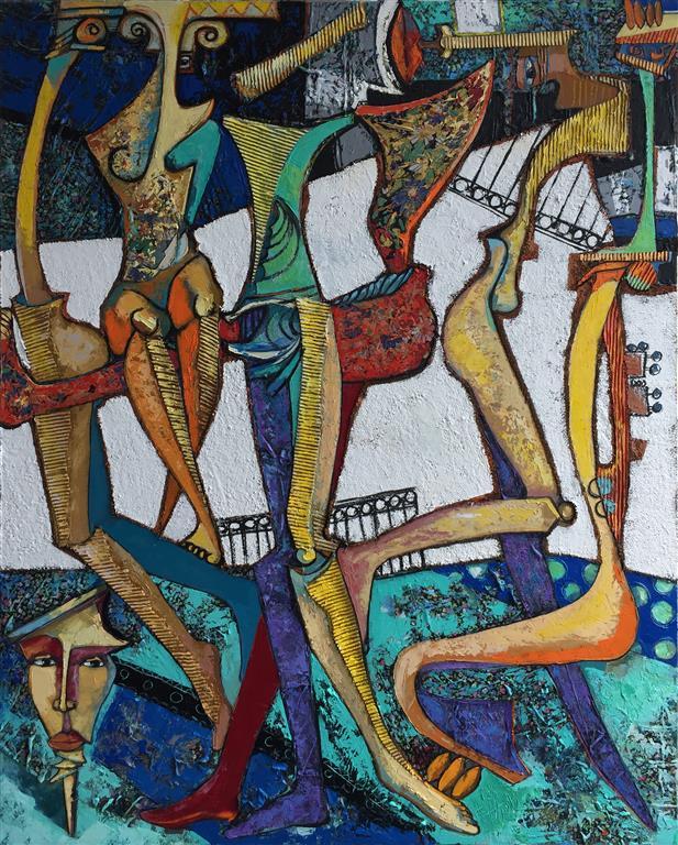 Støtter IV Maleri (150x120 cm) kr 35000 ur
