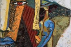 Den raude pupillen Maleri (80x60 cm) kr 13000 ur