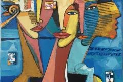 Familie Maleri (80x60 cm) kr 13000 ur
