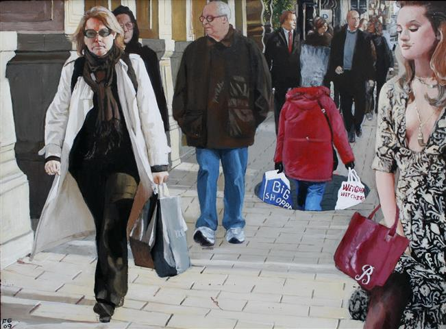 Big shopper Akryl paa plexiglas 30x40 cm 8000,-kr m.r.